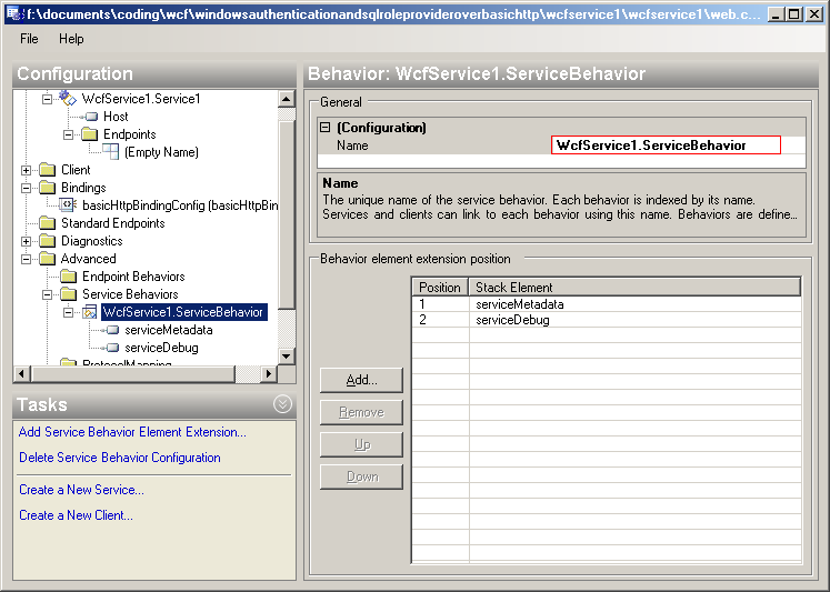 WCF Using Windows Authentication and SqlRoleProvider over basicHttp